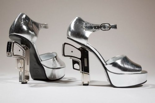 guns shoes high heels pistols - 7135445760