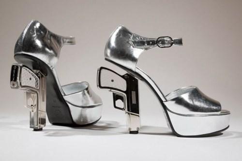 guns shoes high heels pistols - 7135445760