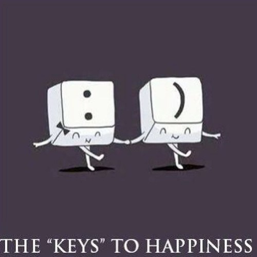 keys happiness smile keyboard