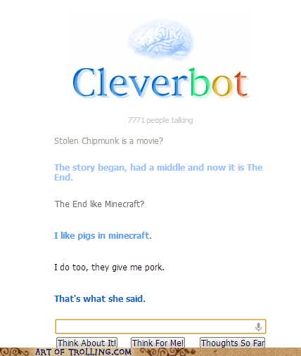 minecraft,Cleverbot,pork
