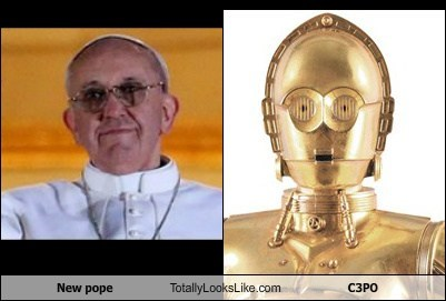 New pope Totally Looks Like C3PO