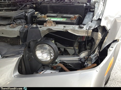 Deer take out headlight? Have a John Deere? Problem solved!