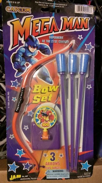toys,IRL,mega man,bows