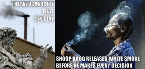 the pope,smoke,snoop dog,vatican,Music FAILS