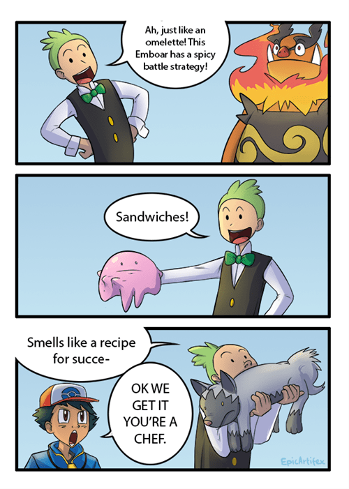Pokémon,cooking,anime,comics,cilan