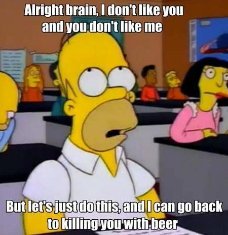 homer simpson beer alcohol brain the simpsons after 12 g rated - 7135767808