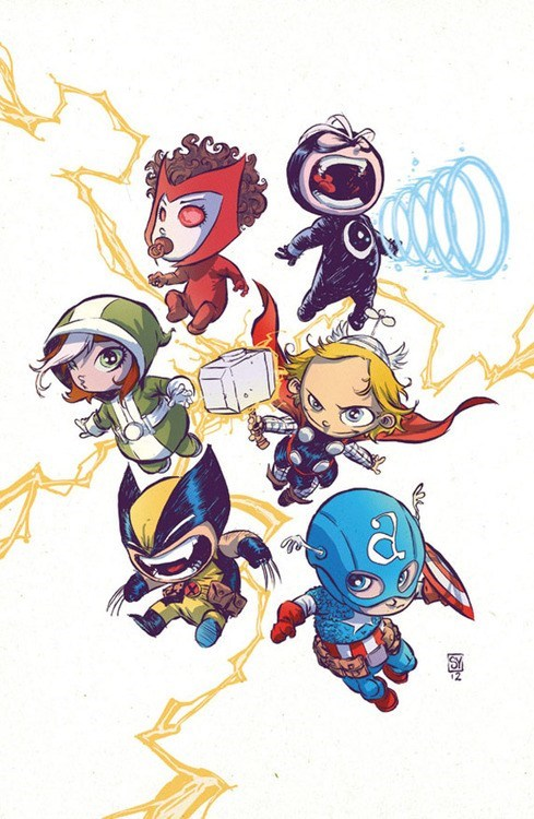 Babies,marvel,skottie young,art