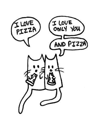 pizza comic food Cats - 7135952640