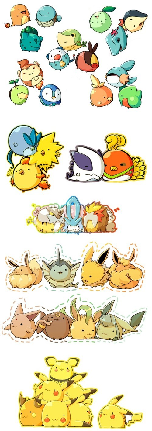 Pokémon fat art dawww cute