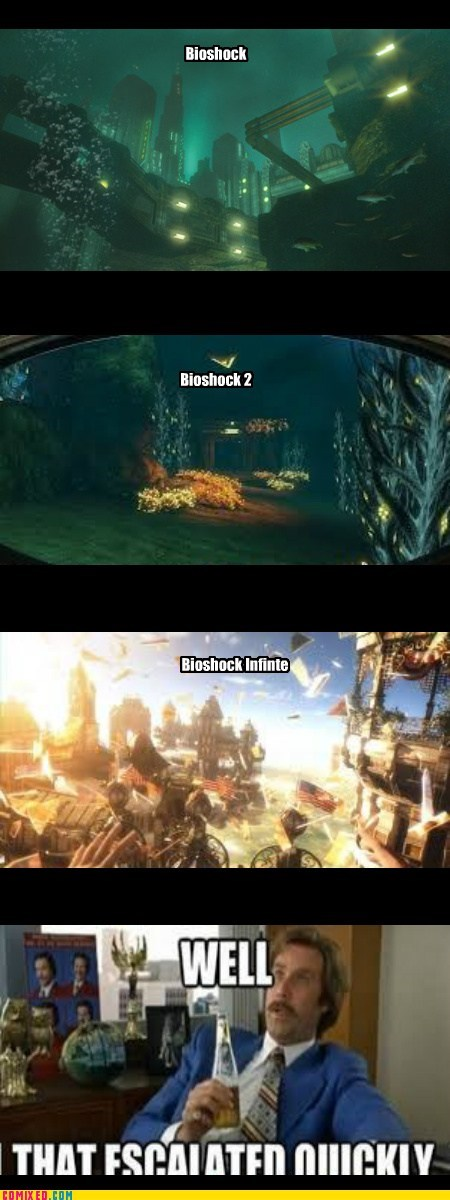 well that escalated quickly bioshock bad puns Will Ferrell - 7136024320