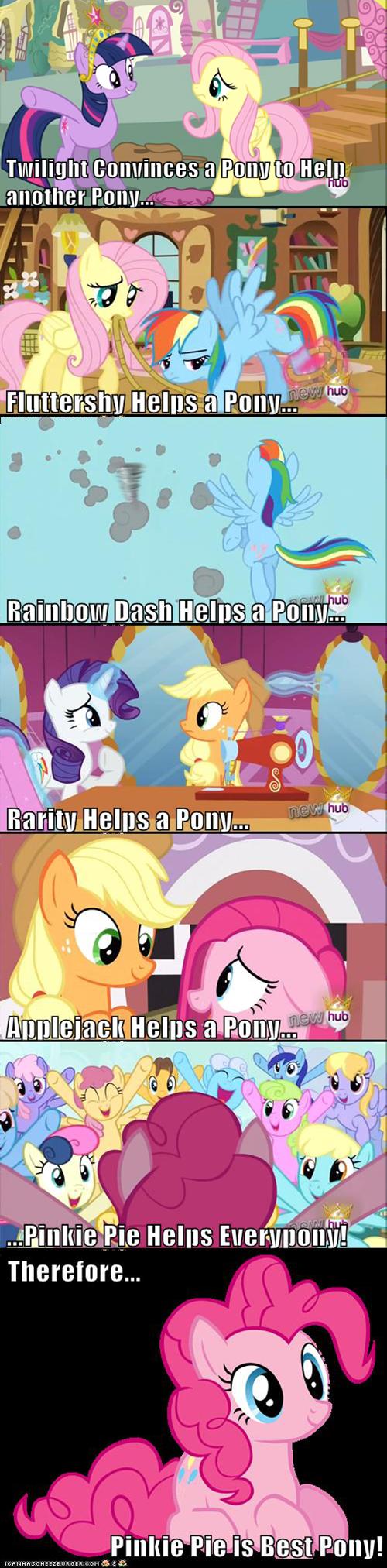 twilight sparkle pinkie pie mane six best pony - 7136031744