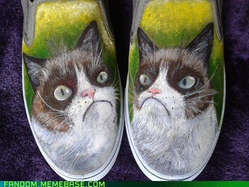 Grumpy cat shoes!