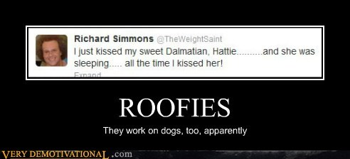 wtf,roofies,richard simmons,dogs