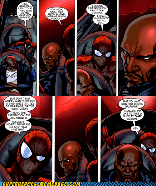 Spider-Man Luke Cage off the page sexy times - 7137665536