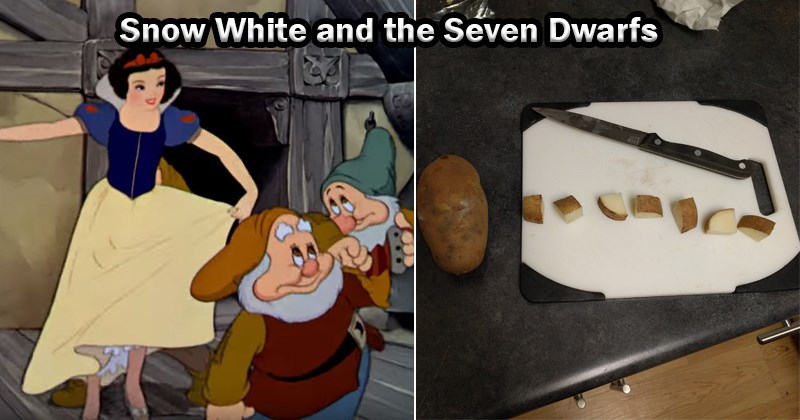 disney princesses as potatoes