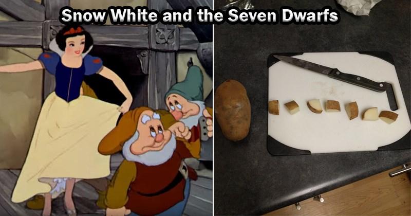 disney princesses as potatoes