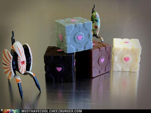 edible Portal chocolate companion cubes - 7137911552