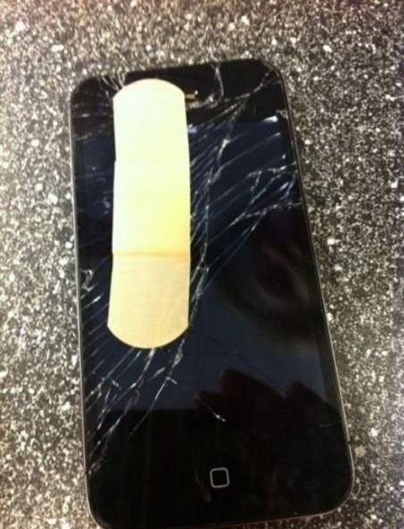 broken screen all better band aid g rated AutocoWrecks