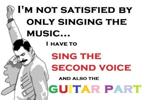 freddie mercury,singing,guitars,harmonies,Music FAILS,g rated