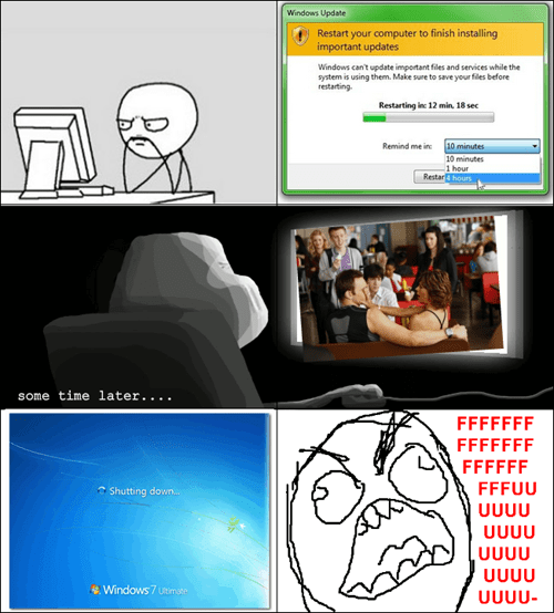 windows,rage comic,updater