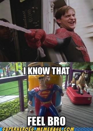 Spider-Man,trains,stop,superman