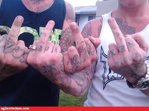 misspelled-tattoos-you-re-next,finger tattoos