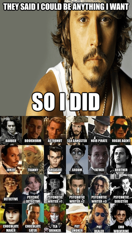movies all the things Johnny Depp