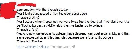 The Older Generation Has Screwed Us
