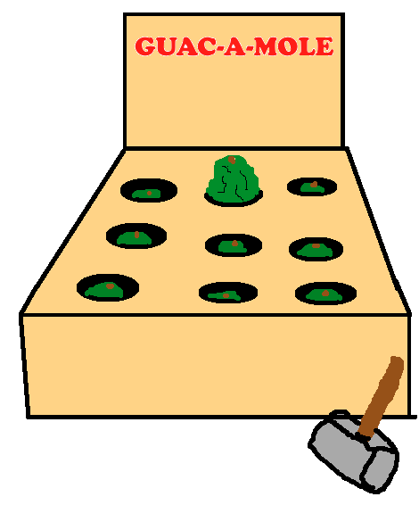 similar sounding guacamole whack a mole suffix