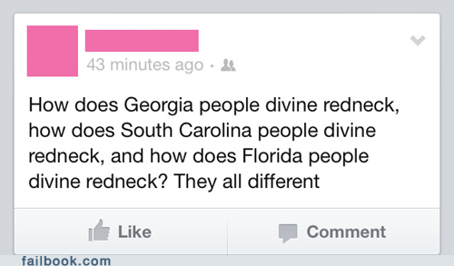 Divine south carolina florida rednecks spelling the south Georgia - 7138234624