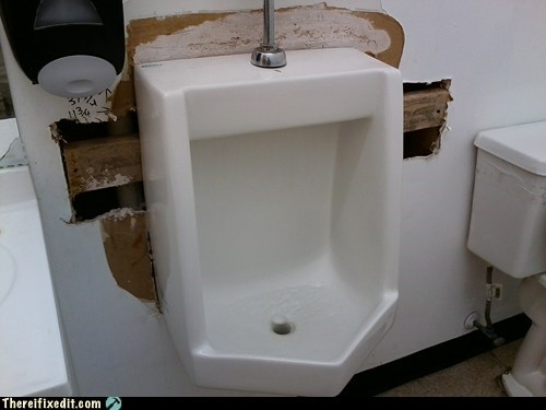 urinal toilet wall