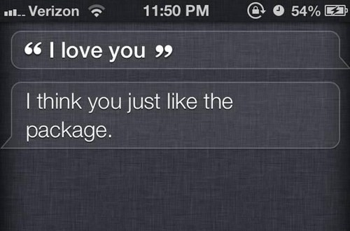 siri,package,i love you