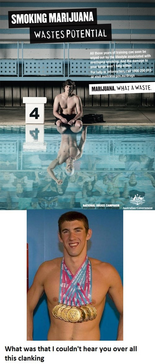 Michael Phelps Would Like To Have a Word With You