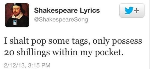 Music twitter lyrics shakespeare Macklemore - 7138542336