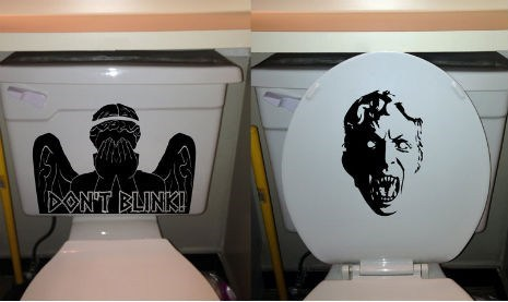 weeping angels nerdgasm doctor who toilet g rated win