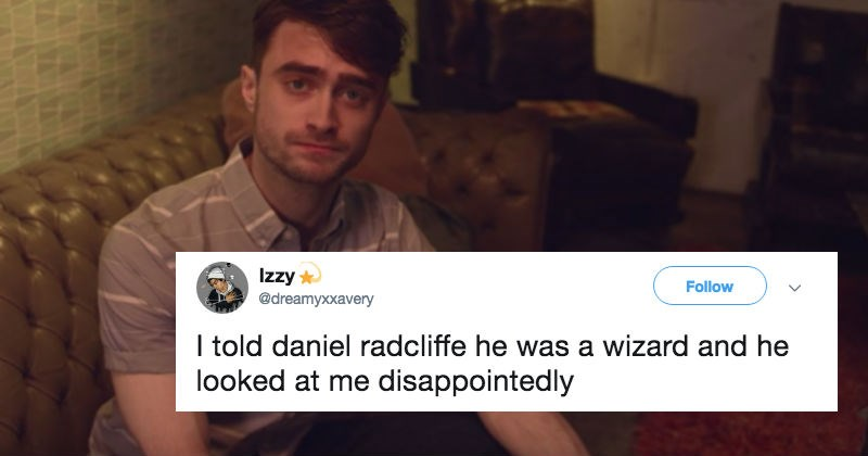 cover image about Daniel Radcliffe after he was told he is a wizard