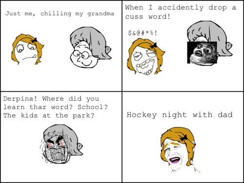 family bonding cuss words Canada hockey hockey night - 7138602496