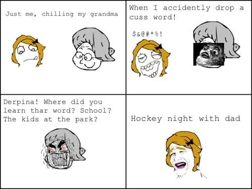 family bonding cuss words Canada hockey hockey night - 7138602496