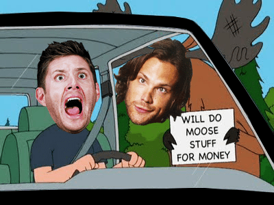 scary jensen ackles Supernatural dean winchester sam winchester Jared Padalecki - 7138613760