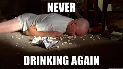 walter white,too drunk,hangover