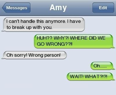wrong number iPhones Awkward cheating breaking up - 7138707712