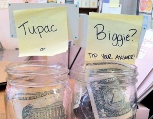 biggie smalls,tip jars,tupac,Notorious BIG,Music FAILS,g rated