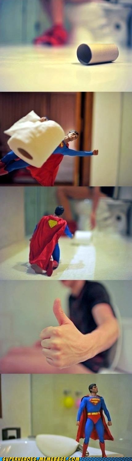 saving people toilet paper superman - 7138756352
