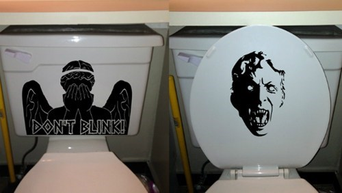 weeping angel,poop,doctor who,toilet,dont-blink