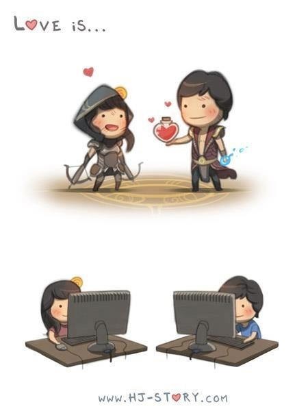 art gaming gamers couples love - 7138847488