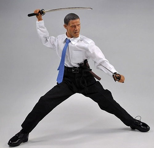 samurai,toy,obama,president