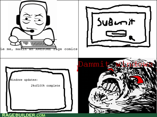 windows update windows making rage comics