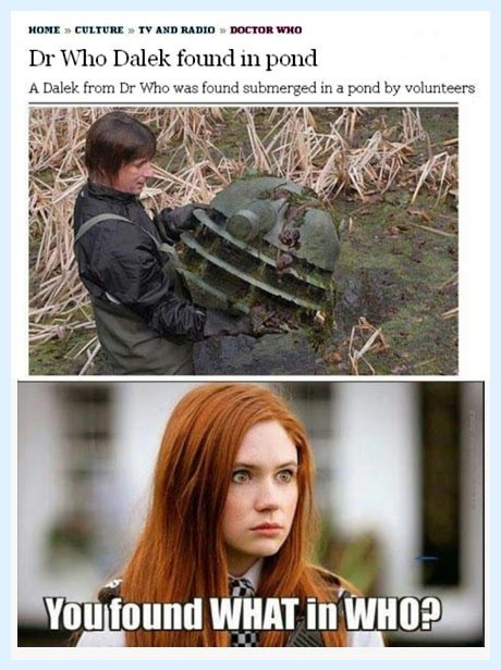 wait what karen gillan daleks pond doctor who amy pond - 7139028480