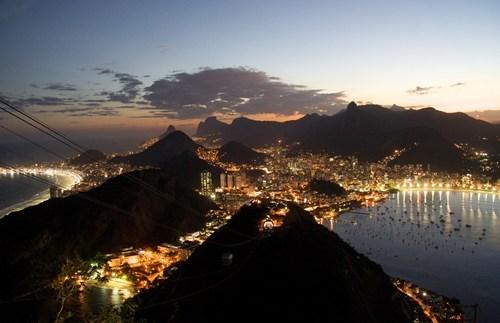 brazil cityscape rio de janeiro pretty colors night