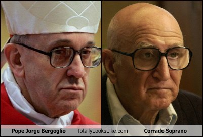 jorge bergoglio,pope,totally looks like,corrado soprano